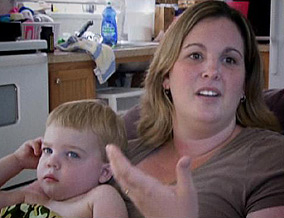 Lindsay Huckabee blames her family's illnesses on chemicals in their trailer.
