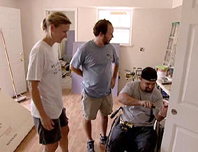 Liz McCartney and Zack Rosenberg help a single father rebuild his home.