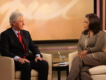 Bill Clinton talks about his wife's run for the presidency.