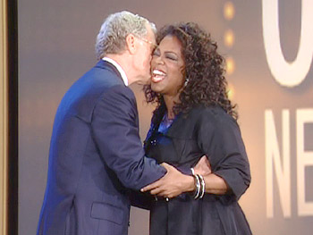 Dave welcomes Oprah to New York City.