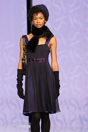 Vera Wang's colorful cocktail dress