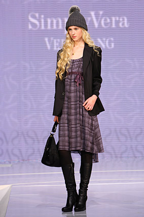 Simply Vera dress with a big boy jacket