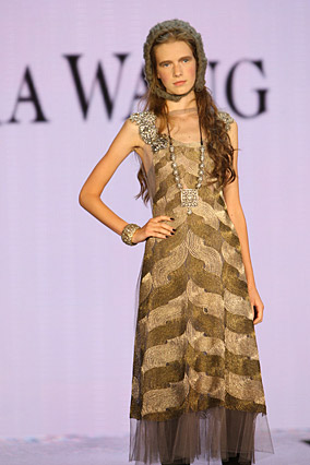 Metallic dress by Vera Wang