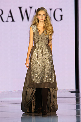 Taffeta dress by Vera Wang