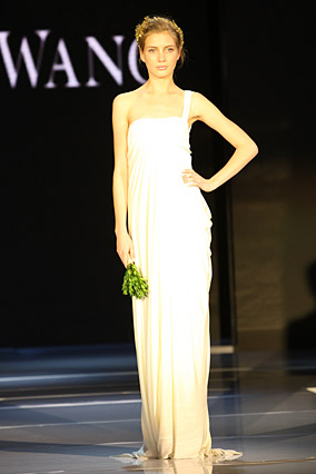 Grecian wedding dress by Vera Wang