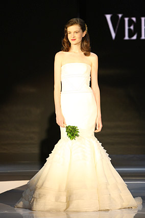 Strapless wedding dress by Vera Wang