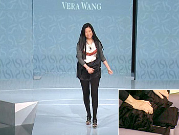 Vera Wang wears leggings.