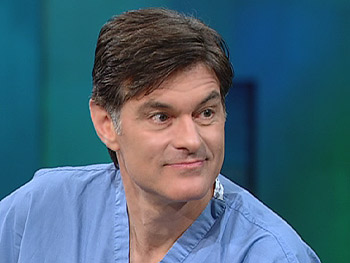 Dr. Oz says drinking water doesn't affect your skin.