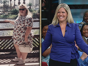 Jackie has lost 100 pounds.