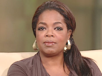 Oprah reads the CDC's statement.