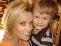 Jenny McCarthy and her son, Evan