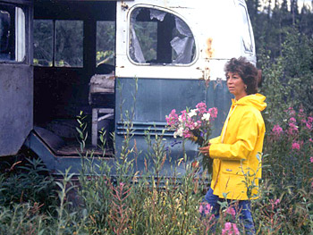 Billie McCandless visits the place where her son died.