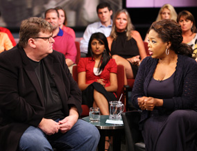 Michael Moore and Oprah