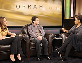 Oprah applauds Angelika, Jake and Dr. Bowers.