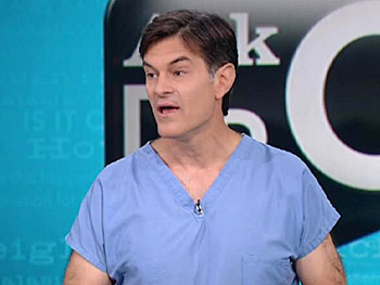 Dr. Oz answers a question about colon cancer.