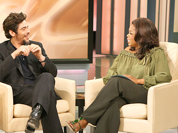 Oprah and Benicio Del Toro