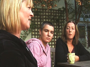 Sinéad O'Connor with her friends Angela and Hilly