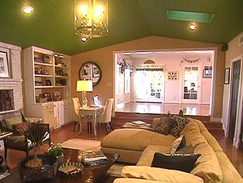 Margie and John's new California chic family room