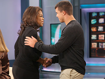 Oprah and a show guest