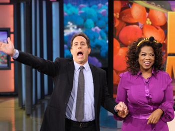 Jerry Seinfeld and Oprah