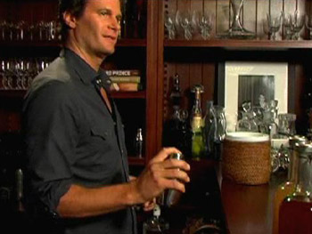 Rande Gerber in his bar