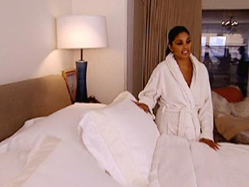 Rachel Roy loves Frette sheets.