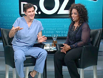 Dr. Oz describes the stamp test.