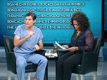 Oprah's audience takes the brain test.