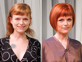 Daphne before and after her makeover