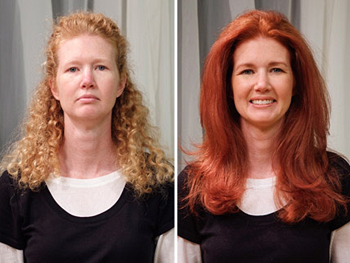 Janice before and after her makeover