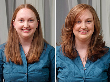 Dannielle before and after her makeover