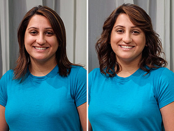 Harpreet before and after her makeover