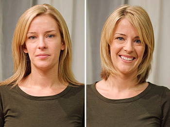 Jill before and after her makeover