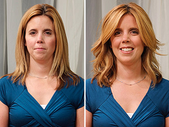 Kelly before and after her makeover