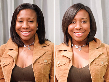 LaToya before and after her makeover
