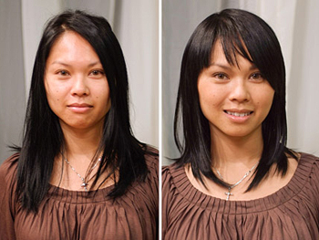 Leang before and after her makeover