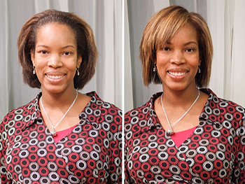 Nataki before and after her makeover