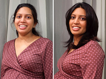 Sejal before and after her makeover