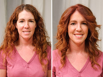 Tara before and after her makeover