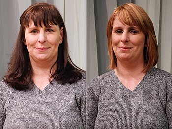 Mary Ann before and after her makeover