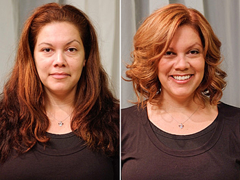 JoAnn before and after her makeover