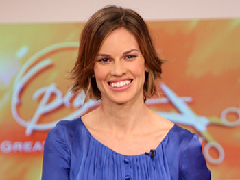 Hilary Swank reveals her new 'do.