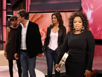 Keisha Whitaker, Rande Gerber, Cindy Crawford and Oprah