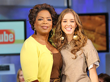 Singer Esmée Denters and Oprah