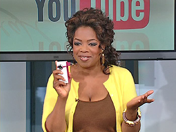 Oprah uses the Flip Video camera from Pure Digital.