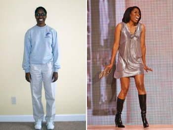 Cenell before and after her makeover