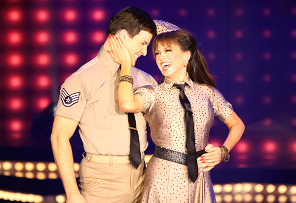 Marie Osmond performing with her Dancing with the Stars partner