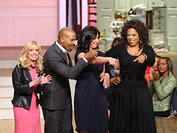 Charla Krupp, Lloyd Boston, Stacy London and Oprah