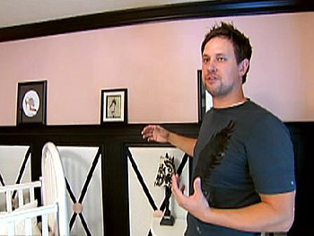 David painted his daughter's room dramatic black and pink.
