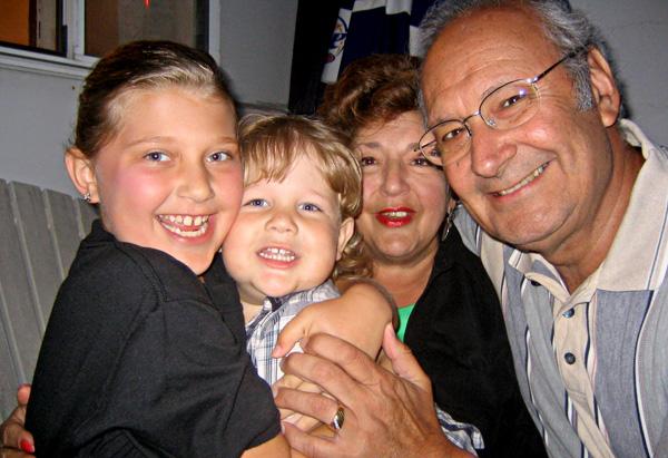 Sharyn, Marvin and their grandchildren